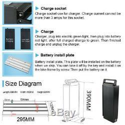 UPP Batterie de vélo électrique 48 V 18Ah 864Wh + Porte-Bagages + Chargeur pour