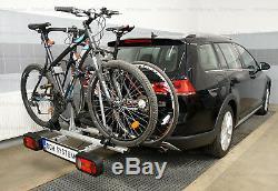 Universel Porte-vélos sur attelage pour 2 vélos AMOS GIRO 2 + TROIS un cadeaux