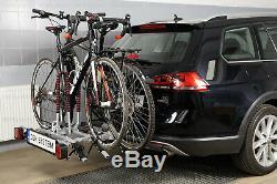 Universel Porte-vélos sur attelage pour 3 vélos AMOS TYTAN 3 + un cadeau