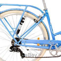 Vélo Femme 700c 28 Pouces 7 Vitesse Difiori Bluebell Porte-Bagages pour